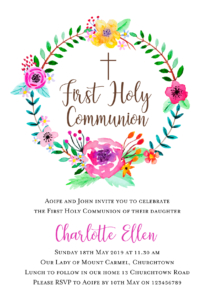Communion Invitation Cards